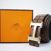 ikat pinggang kulit pria import Hermes CT04 coffee