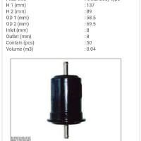 """Fuel Filter / FIlter Bensin Taruna EFI FS-1213 Sakura """" 11796 """""""