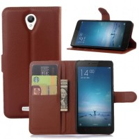 Leather Flip Cover Wallet Xiaomi Redmi Note 2 Case HP dompet kulit