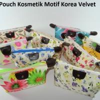 (Korea Velvet) Pouch Tas Kosmetik Bag Make Up Body Lotion Aksesoris