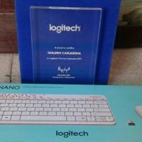 Logitech MK240 Nano Receiver Wireless Mouse Keyboard White