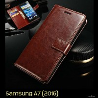 Samsung Galaxy A7 2016 Retro PU Leather Flipcase Luxury Wallet Cover