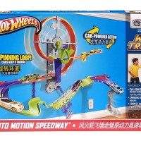 Mainan Track Set HOT WHEELS WALL TRACKS AUTO MOTION SPEEDWAY - 10905