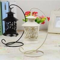 Retro Hollow Candlestick lantern / lentera / tempat lilin