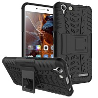 Hard Soft Case Lenovo Vibe K5 Plus Casing HP Silikon Armor Stand Cover