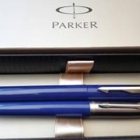 Jual Paket Parker Blue Beauty: 1pcs Jotter Blue BP+1pcs Vector Std.Blue RB Murah