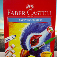 Cat Acrylic 12 W Faber Castell