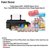 Printer Epson L805 New Wifi + Tinta SUN Premium INK NFI (Dye Based)