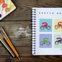Notebook - Becak Tiles By Olliver Wihardja & Keken Christanto