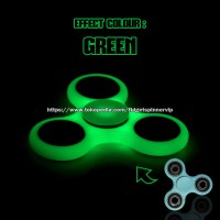 tri fidget spinner glow in the dark/ hand spinner/ fidget toys