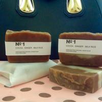 handmade vegan bastille soap 100% natural / sabun mandi coklat