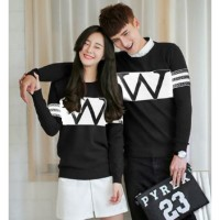 Sweater Wonder Neo Black White - Mantel / Busana / Fashion / Couple