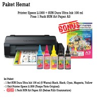 PRINTER EPSON L1300 TINTA SUN DURA ULTRA 100 ML BONUS ART PAPER A3