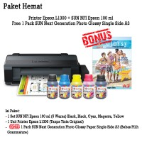 PRINTER EPSON L1300 SUN NFI PREMIUM 100 ML BONUS NG GLOSSY PHOTO A3