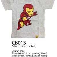 harga Cb013 - Kaos Iron Man Untuk Anak 4-14 Tahun Tokopedia.com