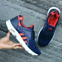 PROMO SEPATU ADIDAS ZX FLUX TORSION NAVY RED IMPORT (SPORT CASUAL)