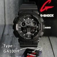 Jual Jam Tangan Casio G-Shock GA-100 Full Black/RED /Pria suunto/skmei Murah