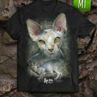 Kaos ANIMANIA Kaus Cloth T Shirt Tee Kucing Sphynx Cat
