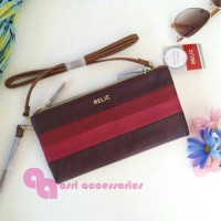 NWT Relic (Fossil Group) Emma Wristlet Crossbody Two Ways Multi Red