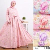 Gamis/Baju Muslim/Maxi Dress/Gamis Shabby Chic Katun Je Diskon