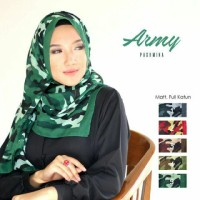 Pashmina Army 02 / Hijab / Jilbab / Krudung / Jilbab Pashmina /