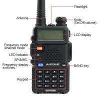 HT Baofeng UV-5R dual band UHF VHF walkie talkie