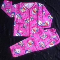 baju tidur katun anak perempuan dan laki-laki doraemon 4 sd 5 thn