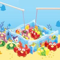 Mainan Kayu Edukatif Anak Memancing Pancing Aneka Hewan Laut ME144