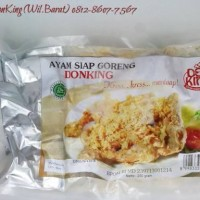 DonKing Ayam Kampung Siap Goreng (Ekstra sambal & kremes). Halal,Murah