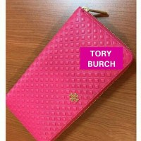 JUAL DOMPET TORY BURCH MARION EMBOSSED ZIPPER CARANATION RED ORIGINAL