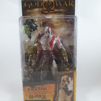 NECA God Of War Kratos In Golden Fleece Armor With Medusa Head