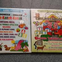 CD Lagu anak bahasa inggris dan indonesia 2disc original