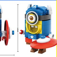 LOZ Mini block - 4107 - Minion - Captain America