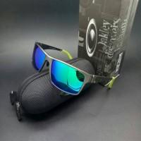sunglasses O4kley jupiter squared titanium gun smoke stabilo blue jade