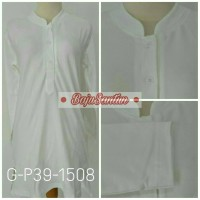 Bigsize - Atasan Wanita Kaos Polo G-P39-1508 Putih