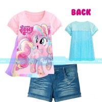 Baju Setelan Anak Perempuan GW 240 G my Little Pony Sayap Celana Jeans
