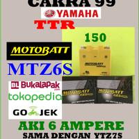 Aki Gel Kering YAMAHA TTR 150 Motobatt MTZ6S /YTZ7S Aki bebas perawata
