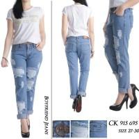 Jual Celana Jeans Boyfriend JUMBO Sobek Full Furing  CK 915 676 Murah