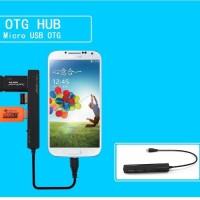 OTG Micro USB 3 Ports HUB with Simultaneous Power Charging