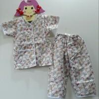Baju Tidur Anak Perempuan Hello Kitty Pink Piyama Pajama Katun Setelan