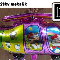 Balon Heli hello kitty