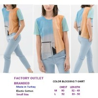 COLOR BLOCKING T-SHIRT. Made in Turkey - FASHIONme FO BRANDED