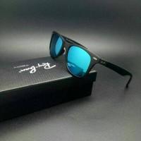 Kacamata rayban wayfarer rb4195 blue black doff