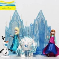 HOT SALE FIGURIN FROZEN CASTLE MURAH ELSA ANNA ISTANA TOPPER OLAF SET