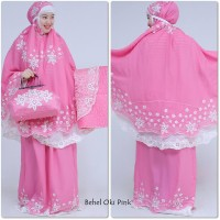 mukena behel oky pink double hycon