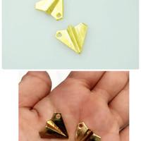 jual charm jual aksesoris charm airplane pesawat kertas gold aksesoris