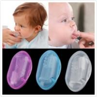 Jual sikat lidah gigi bayi baba love finger brush jari silikon pembersih Murah
