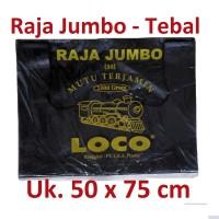 harga Kantong Plastik Kresek Loco Uk.50 Jumbo Hitam Berat 1000 Gram Per Pack Tokopedia.com
