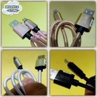 kabel data micro USB 2 meter (model kain)