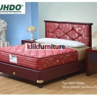 Divan Atlantic + Sandaran Paris 160x200cm Guhdo Spring Bed